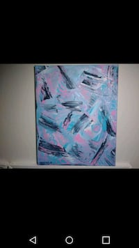 white, blue, and pink abstract painting Milwaukee, 53202