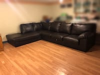 Black Leather L Shaped Couch Richmond Hill, L4C 4G5