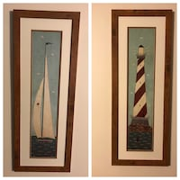 brown wooden framed wall decor Frederick, 21702
