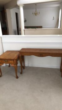 Beautiful wood console table & end table with drawers Bowie, 20721