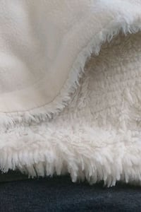 white and black fur textile Falling Waters, 25419