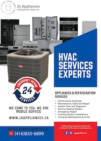 Appliances & Refrigeration Repairs   Mississauga