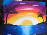 sunset painting Vaughan, L4L 0A3