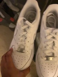 pair of white Nike Air Force 1 low District Heights, 20747