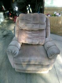 gray suede recliner sofa chair St. Cloud