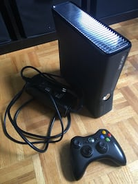 black Xbox 360 game console with controller Gatineau, J8R 1G8