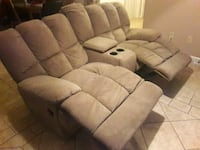 Double recliner seat sofa with cup holder Powder Springs