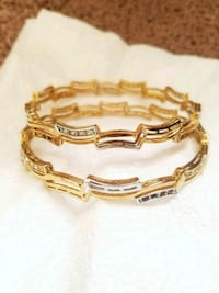 Grey and gold color bangles  Bristow
