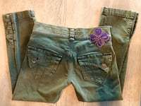 Made In Italy army green boho style Miss Sixty capris. Sz 26. Las Vegas, 89138