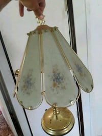 gold-colored and white pendant lamp Hubert, 28539