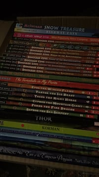 A box full of Chapter books for kids