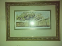 green leaf tree painting with brown wooden frame Riverbank, 95367