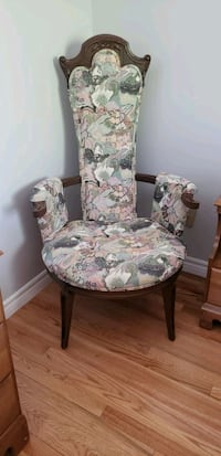 white and pink floral padded armchair Laval, H7R