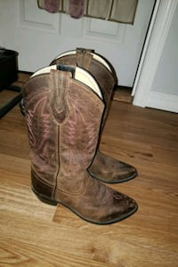 pair of brown leather cowboy boots Fayetteville, 17222