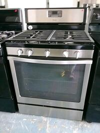 stainless steel and black gas range oven Houston, 77092