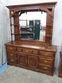 brown wooden dresser with mirror Central Okanagan, V4T 1H9