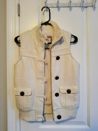 white button-up vest