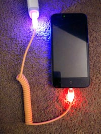 Light Up Spiral Micro USB Charger Cable Los Angeles, 91402
