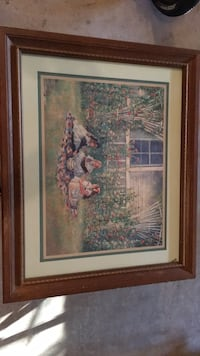 brown wooden framed painting of woman Perry Hall, 21128