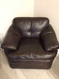 Brown Faux Leather Couch Fort Lauderdale, 33304