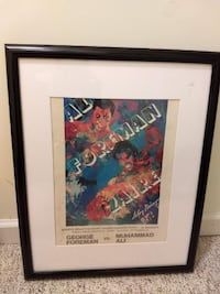 Ali Foreman watercolor print poster framed 29 km