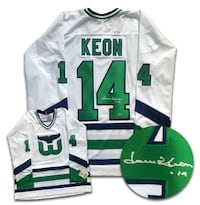 Dave Keon Hartford Whalers Autographed CCM Jersey COA Toronto