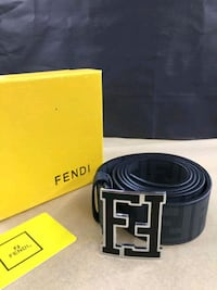Fendi Black Belt with Silver Buckle Houston, 77074