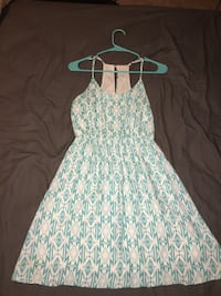White and teal floral spaghetti strap dress Fort Mill