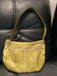 Green leather bag Nashville