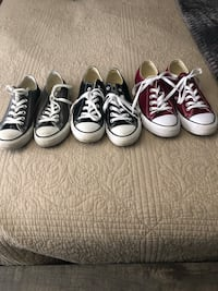 All three 7/12 for $60 or $20 each worm only a free times woman's one gray one burgundy one black  Bakersfield, 93312