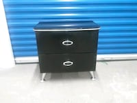 Black lacquer nightstand Chrome Hyattsville, 20784
