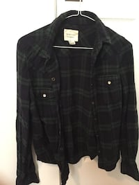 Forever 21 Green Plaid Shirt VANCOUVER