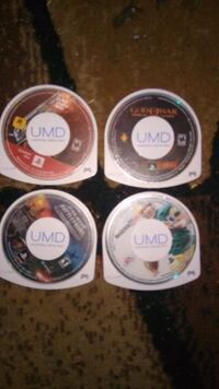 4 psp games and case  Red Deer, T4P 2N4