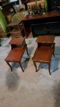 pair of solid wood side tables  Brampton, L6X