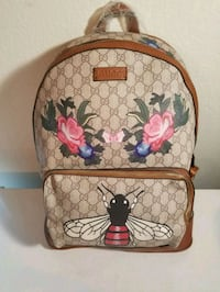 brown and red Gucci leather backpack Fort Worth, 76179