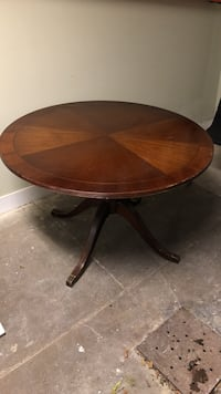 "Round brown 48""wooden dining / office table - originally $5,000 Washington, 20009"