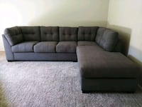 Large grey sectional with ottoman  Wood Village, 97060