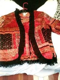 red and black floral cardigan Dallas, 30132