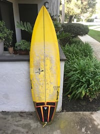 yellow surf board