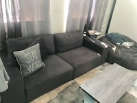 Black and gray suede sectional couch Paramus, 07652