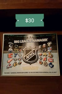 NHL Big league manager board game Edmonton, T5E 3R3