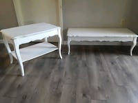 two white wooden side tables Fort Pierce, 34982