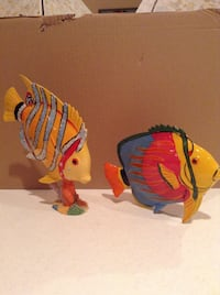 Red and yellow fish figurine