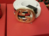white Gucci leather belt with box Montréal, H8Z 3K8