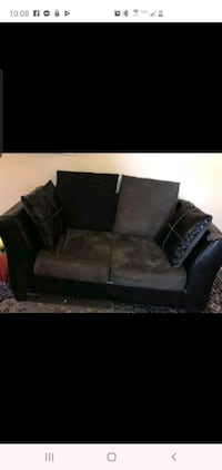 Grey and black couch and love seat Detroit, 48213