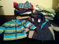 assorted-color 2T clothes & 2 18mo jackets 797 mi