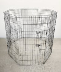 "New $45 Foldable 48"" Tall x 24"" Wide x 8-Panel Pet Playpen Dog Crate Metal Fence Exercise Cage South El Monte"