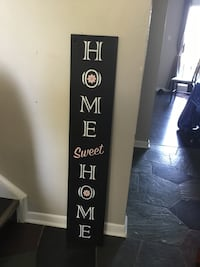 "Customized signs.This one is ""Home Sweet Home"" w/pink accent. Delivery"