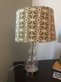 White and brown table lamp 321 mi