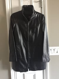 Danier Black leather coat with liner size 8 Toronto, M8V 3W9